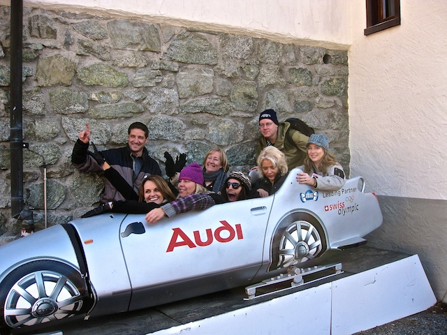 Blogging from the road, St Moritz bob sleigh