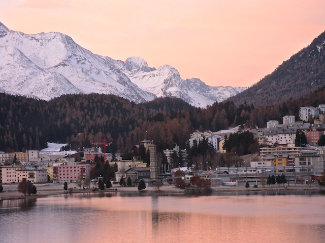 St Moritz, Switzerland, a luxury ski destination