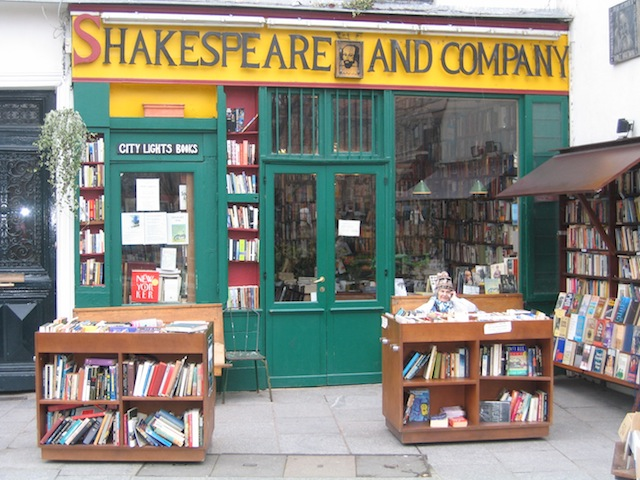 Oscar Wilde in Paris - buy his books at Shakespeare and Company
