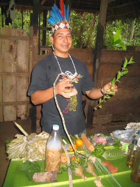 Shamanic healing with the Amazon shaman in Peru
