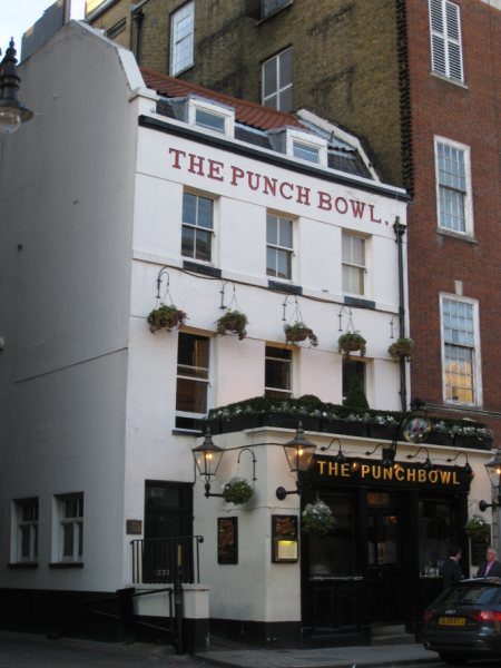 Guy Ritchie's pub The Punchbowl in Mayfair London
