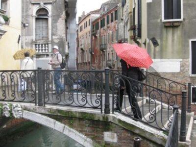 Is Venice romantic? Bridge over a canal