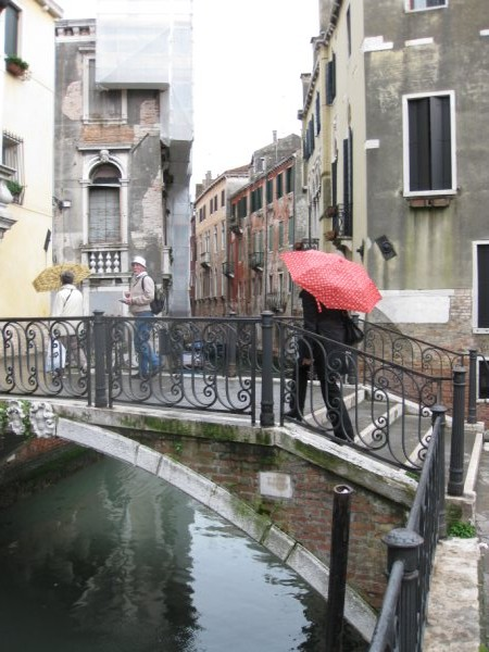 Is Venice romantic? Bridge over a canal