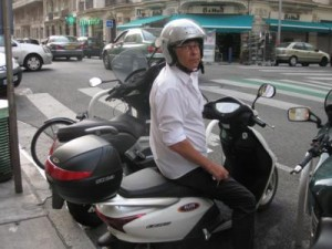 Renting a motorbike in France