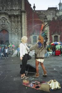 Just another day getting cleansed by a witch in Mexico City
