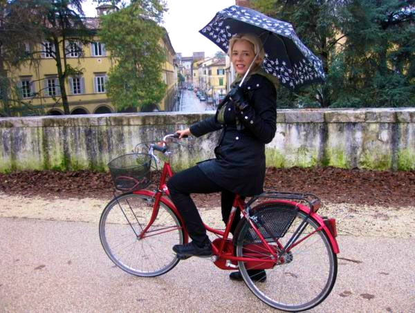 Cycling in Lucca Italy