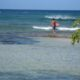 Guadeloupe surfing beach