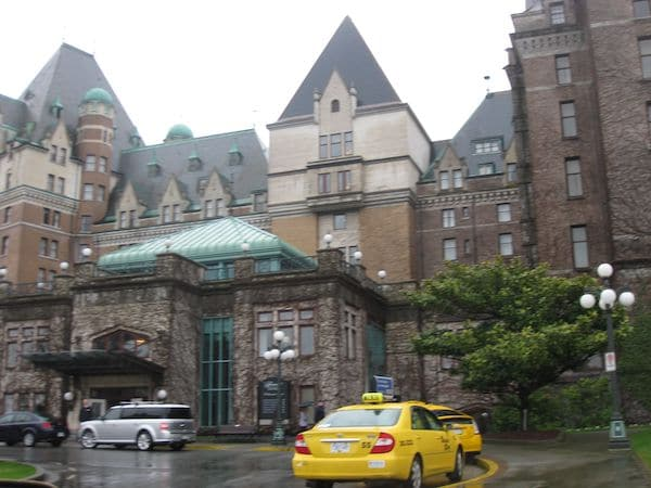 Exterior of the Empress Hotel in Victoria, British Columbia
