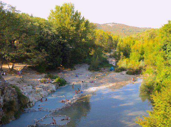 Natural springs around Petriolo Terme