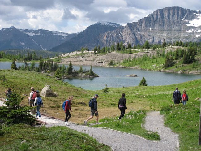 Banff Literary Journalism hike at Sunshin