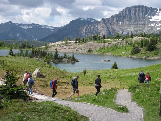 Banff Literary Journalism hike at Sunshin