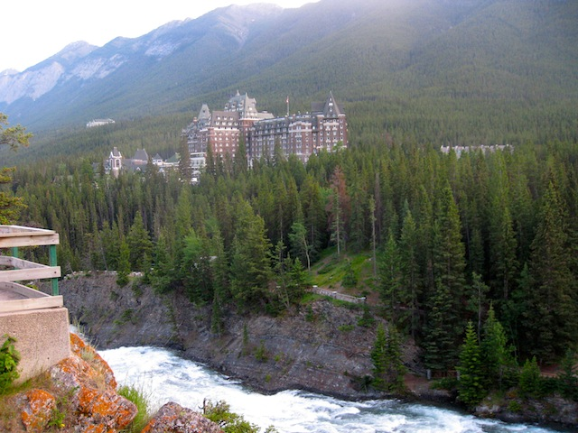 View of Banff Springs Hotel from Tunnel Mountain