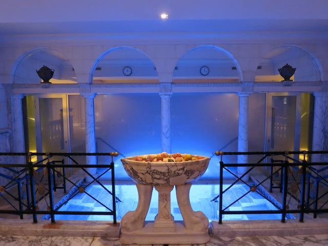 Spa at the Rome Cavalieri Hotel in Rome, Italy