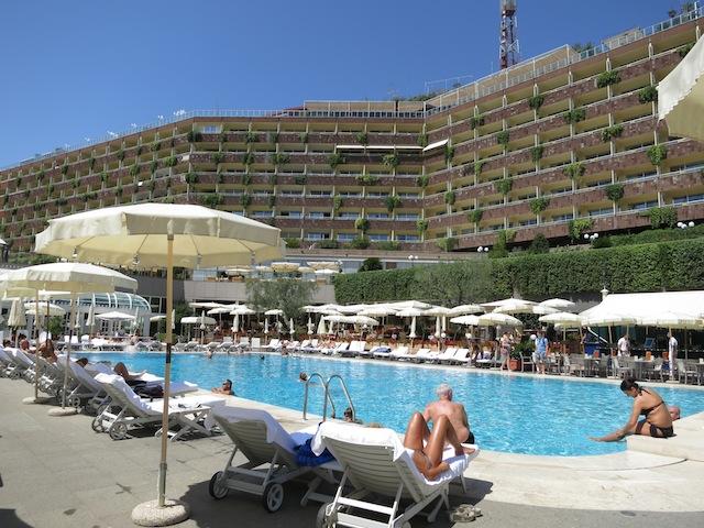 Outdoor pool at Rome Cavalieri Hotel