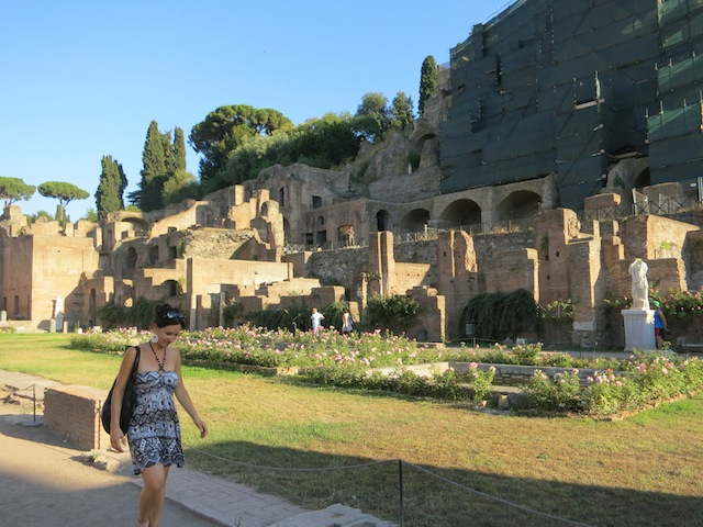 The grounds of the Temple of Vesta and the home of the Vestal Virgins of Rome