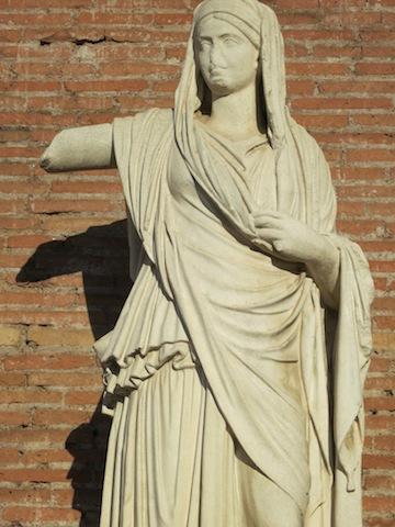 Statue of a Vestal Virgin of Rome