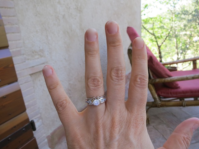 Getting engaged in Umbria, the engagement ring