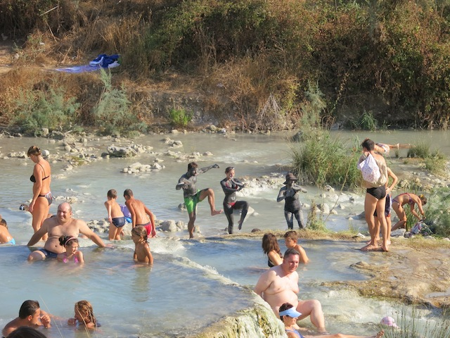 Tuscany when disaster strikes go to Terme di Saturnia spa