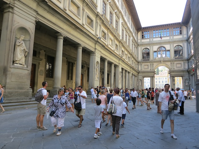 Shopping in Florence Italy and visiting the Uffizi Gallery
