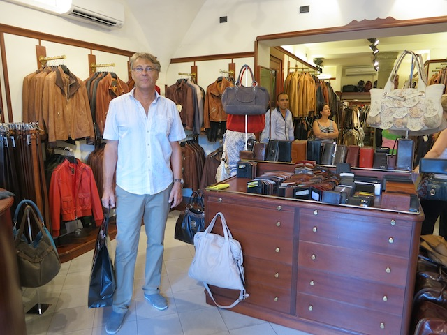 Shopping in Florence, Italy, at the local boutiques and leather stores