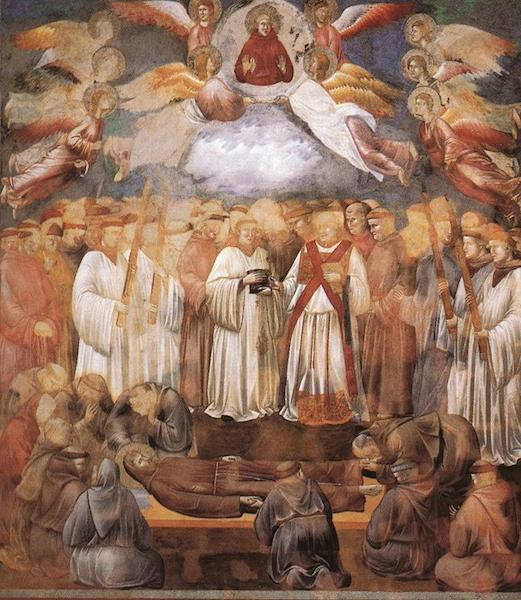 Frescoes of Giotto in Assisi Death and Ascension of St Francis