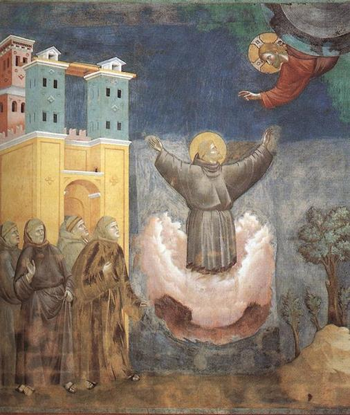 Giotto in Assisi Ecstasy of St Francis