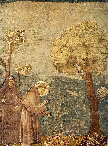 Giotto in Assisi, Legend of St Francis Sermon to the Birds