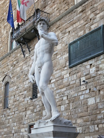 The best Florence views, faux David