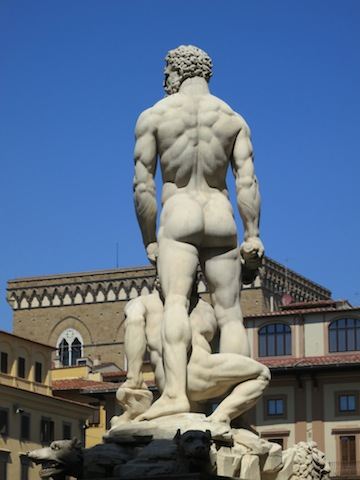 The best Florence views, a sculpture