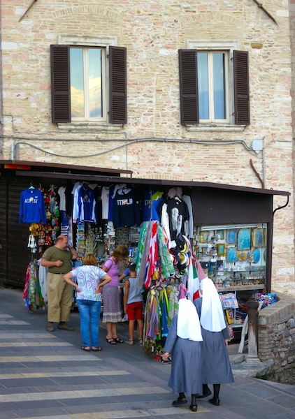 Visiting Assisi, street scene