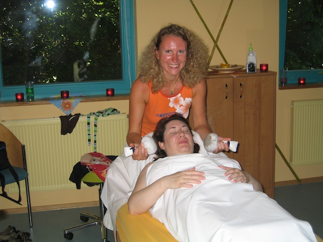 Kneipp therapy in Tabarz, Germany - getting a massage