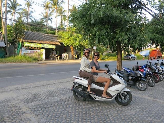Beach scene on Koh Samui Chicks on bikes