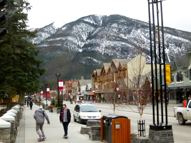 Working hard in Banff