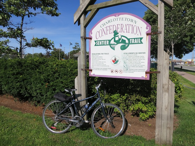 Cycling Confederation Trail in PEI