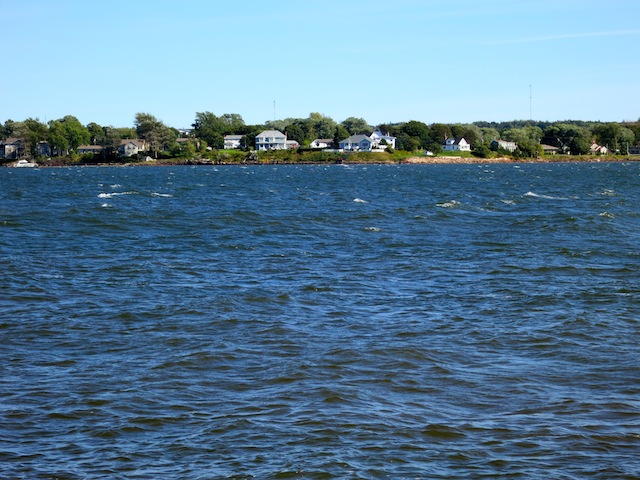 Cycling in PEI, Charlottetown along the water