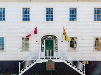 Beautiful white Loyalist House in Saint John New Brunswick Canada