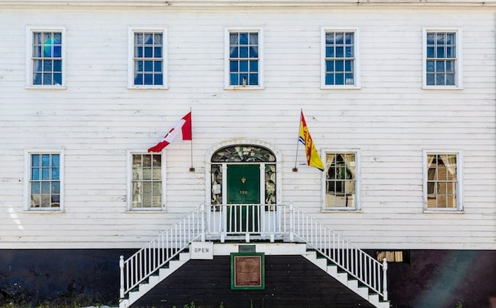 Beautiful white Loyalist House in Saint John New Brunswick Canada