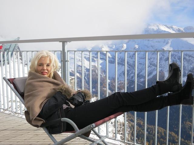 Luxury travel blogger in Switzerland Gemmi Pass Alps
