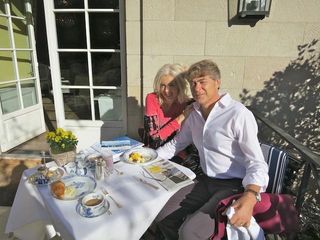 Wandering Carol and Mark on their Baden-Baden honeymoon at Brenners Park