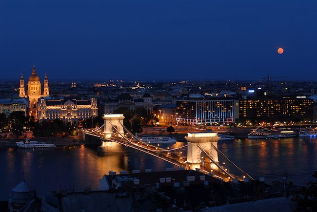 Budapest at night for taking the Waters of Budapest article