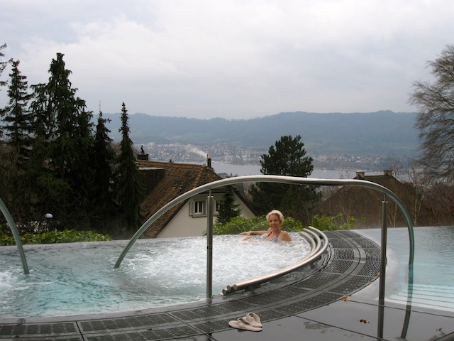 Outdoor whirlpool Dolder Grand Hotel Zurich What really happened on the way to the Dolder Grand