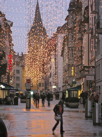 Zurich Switzerland Holiday Lights