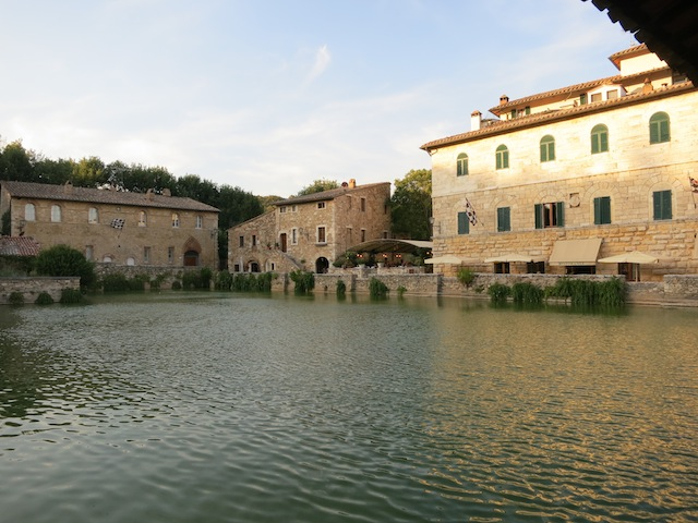 Hot springs of Bagno Vignoni in Tuscany