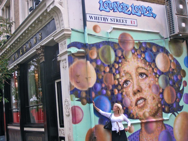 Whitby Street with mural London England