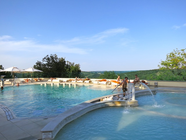 Near Siena is Terme di Petriolo a hot springs resort