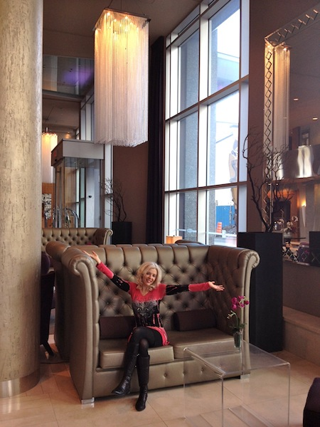 Hotel Le Crystal lobby in Montreal Canada