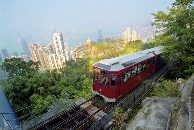 Cable car in Hong Kong