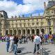 Paris street scene near Louvre