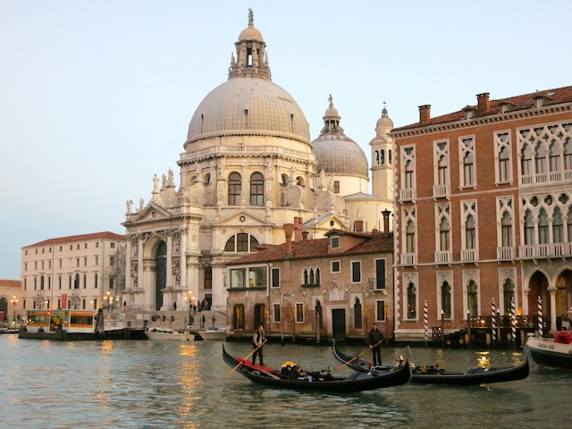 Venice Grand Canal with gondolas Best free luxury travel activities and perks
