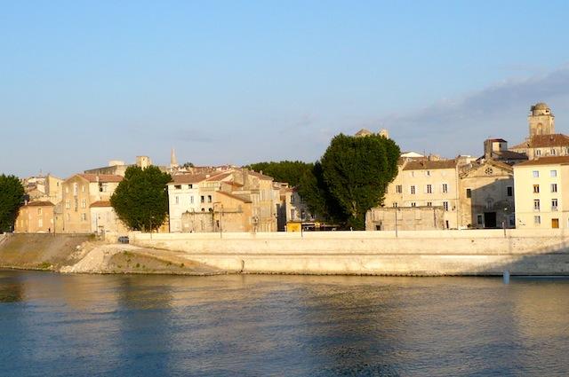 Rhone River in Arles, France